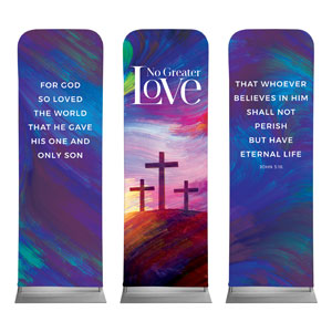 No Greater Love Triptych 2 x 6 Sleeve Banner