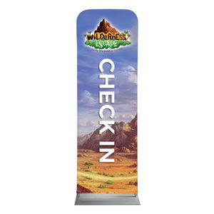 Wilderness Escape Check-In 2 x 6 Sleeve Banner