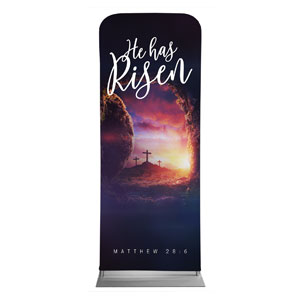 "Dramatic Tomb Easter Scripture 2'7"" x 6'7"" Sleeve Banners"