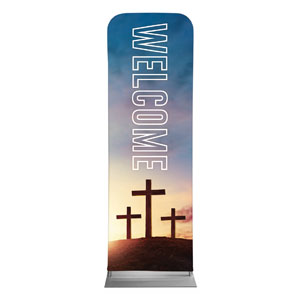 Easter Hope Outline Welcome 2 x 6 Sleeve Banner