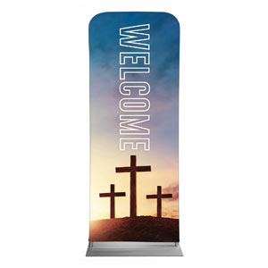 "Easter Hope Outline Welcome 2'7"" x 6'7"" Sleeve Banners"