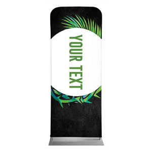 "Easter Palm Crown Your Text 2'7"" x 6'7"" Sleeve Banners"