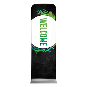 Easter Palm Crown Welcome 2 x 6 Sleeve Banner