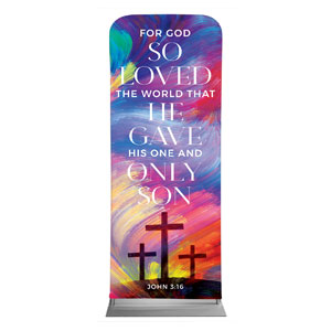 "No Greater Love Scripture 2'7"" x 6'7"" Sleeve Banners"