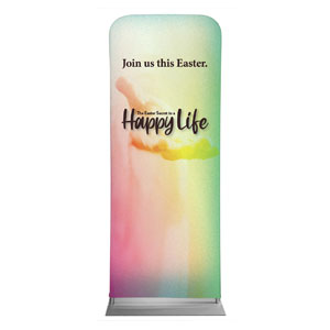 "Happy Life 2'7"" x 6'7"" Sleeve Banners"