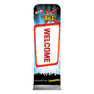 Go Fish Backstage With The Bible Welcome 2 x 6 Sleeve Banner