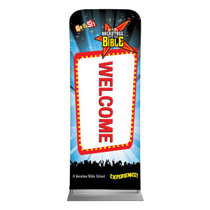 "Go Fish Backstage With The Bible Welcome 2'7"" x 6'7"" Sleeve Banners"