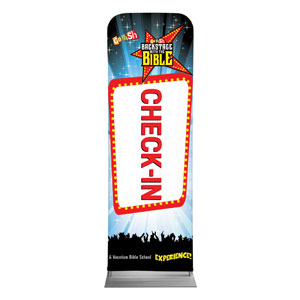 Go Fish Backstage With The Bible Check-In 2 x 6 Sleeve Banner