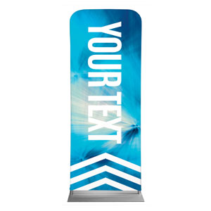 "Chevron Blue Your Text 2'7"" x 6'7"" Sleeve Banners"