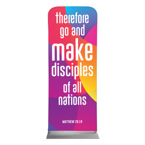 "Curved Colors Scripture 2'7"" x 6'7"" Sleeve Banners"