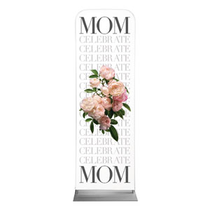 Celebrate Mom Flowers 2 x 6 Sleeve Banner