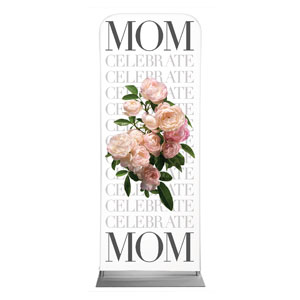 "Celebrate Mom Flowers 2'7"" x 6'7"" Sleeve Banners"