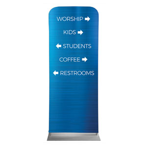 "General Blue Directional 2'7"" x 6'7"" Sleeve Banners"