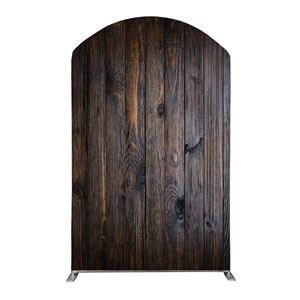Dark Wood Backdrop 5' x 8' Curved Top Sleeve