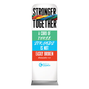 BTCS Stronger Together Scripture 2 x 6 Sleeve Banner