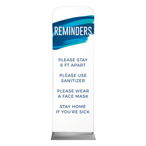 Blue Paint Stroke Reminders 2 x 6 Sleeve Banner