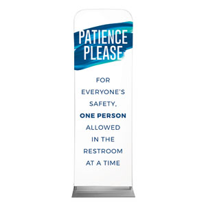 Blue Paint Stroke Patience 2 x 6 Sleeve Banner