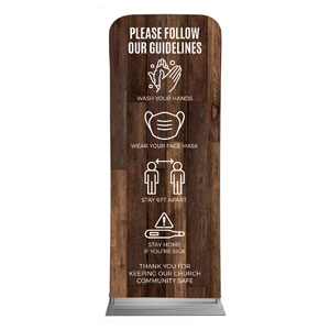 "Walnut Guidelines 2'7"" x 6'7"" Sleeve Banners"