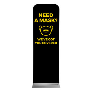 Jet Black Need A Mask 2 x 6 Sleeve Banner
