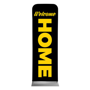 Black Welcome Home 2 x 6 Sleeve Banner