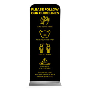 "Jet Black Guidelines 2'7"" x 6'7"" Sleeve Banners"