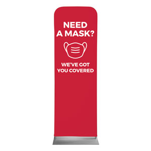 Red Need A Mask 2 x 6 Sleeve Banner