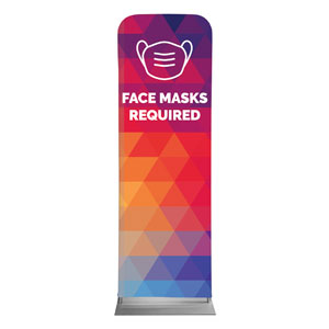 Geometric Bold Face Masks Required 2 x 6 Sleeve Banner