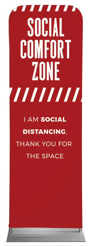 Banners, Social Comfort Zone Red, 2' x 6'