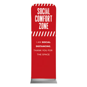 Social Comfort Zone Red 2 x 6 Sleeve Banner