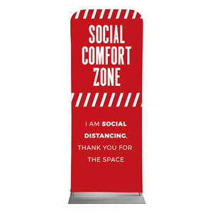 "Social Comfort Zone Red 2'7"" x 6'7"" Sleeve Banners"