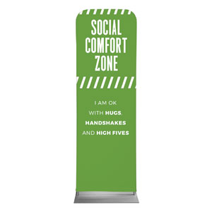 Social Comfort Zone Green 2 x 6 Sleeve Banner