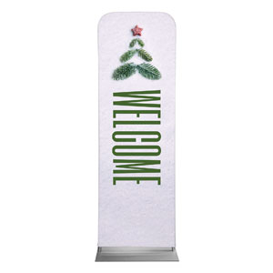 Christmas At Tree Welcome 2 x 6 Sleeve Banner
