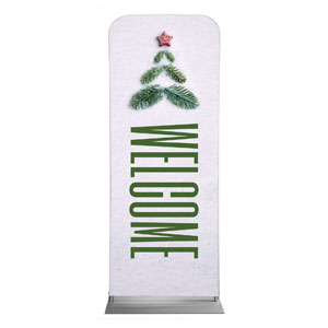 "Christmas At Tree Welcome 2'7"" x 6'7"" Sleeve Banners"