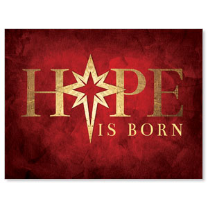 Hope Is Born Star Jumbo Banners
