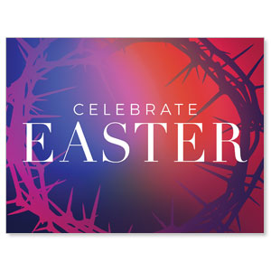 Celebrate Easter Crown Jumbo Banners