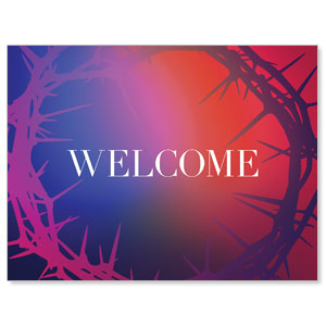 Celebrate Easter Crown Welcome Jumbo Banners