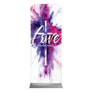 "Love Never Fails 2'7"" x 6'7"" Sleeve Banners"
