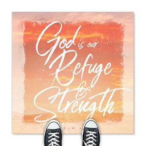 Beautiful Praise Refuge and Strength Floor Stickers
