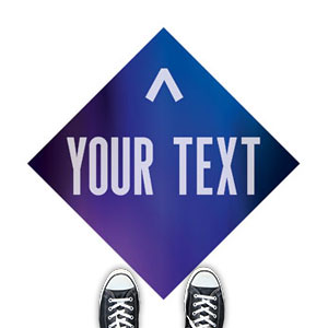 Aurora Lights Your Text Here Floor Stickers