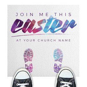 Easter Colors Feet Floor Stickers