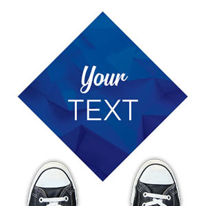 Blue Abstract Your Text Floor Stickers