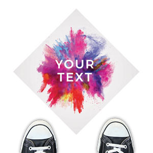 Color Burst Your Text Floor Stickers
