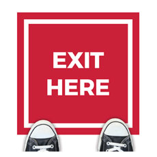 Red Exit Here