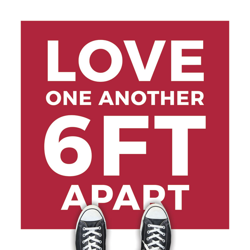 Red Love One Another Floor Sticker - Church Banners ...