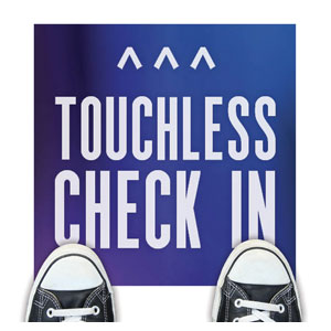 Aurora Lights Touchless Check In Floor Stickers