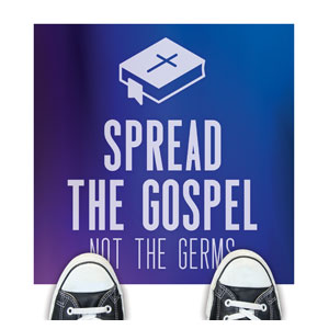 Aurora Lights Spread the Gospel Floor Stickers