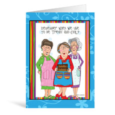 Church Ladies Birthday Greeting Card