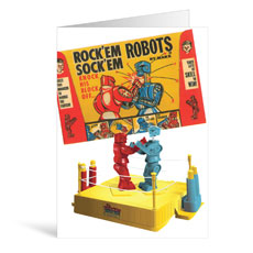 Robots Birthday Greeting Card