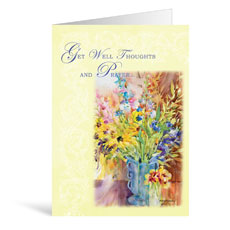 Flowers Get Well Greeting Card