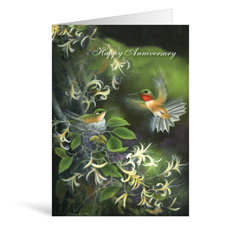 Birds Anniversary Greeting Card